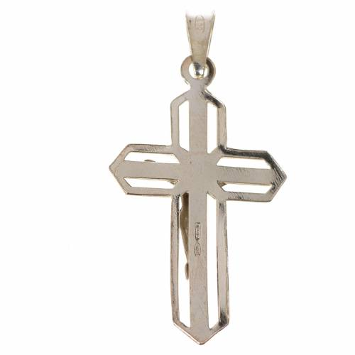 Ciondolo crocefisso dorato argento 800 s2