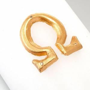 Cirio pascual decoración cruz sobre dorado s4