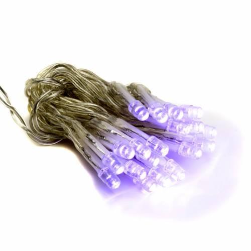 Éclairage Noël 20 ampoules leds lilas intérieur s1