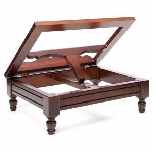 Classic missal stand in walnut wood s3
