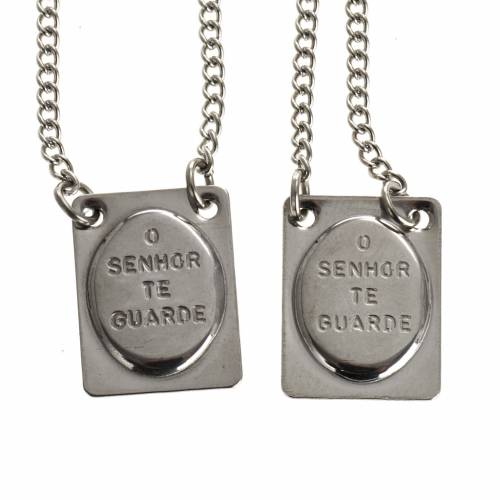 Classic scapular in silver metal s2