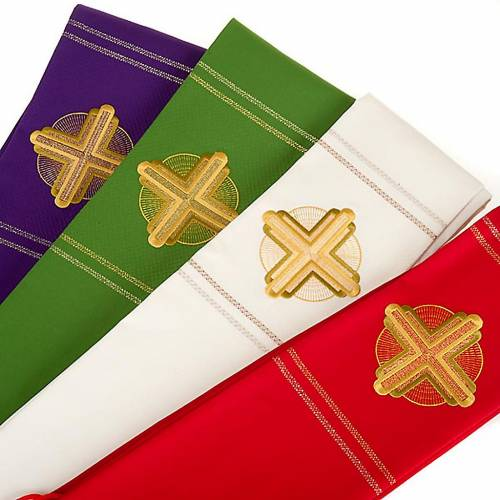Clergy stole golden embroidery s5