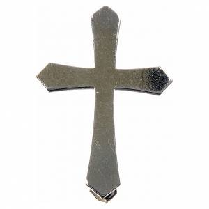 Clergyman pointed cross pin in 800 silver s1