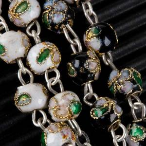 Cloisonné rosary with round 6mm beads s6