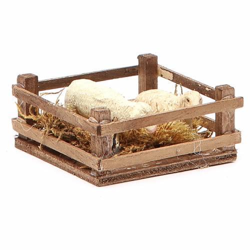 Clôture pour moutons 3x6,5x6,5 cm crèche napolitaine s3