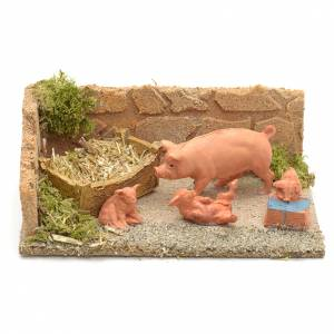 Cochons milieu crèche de Noel s1