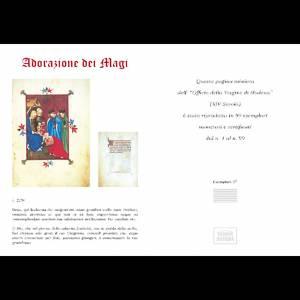 Adorazione dei Re Magi codice miniato s5