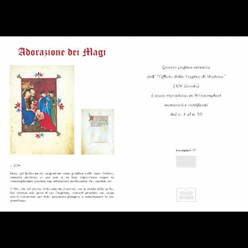 Adorazione dei Re Magi codice miniato 5