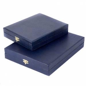 Cofres para íconos y cuadros: Caja azul forrado en raso