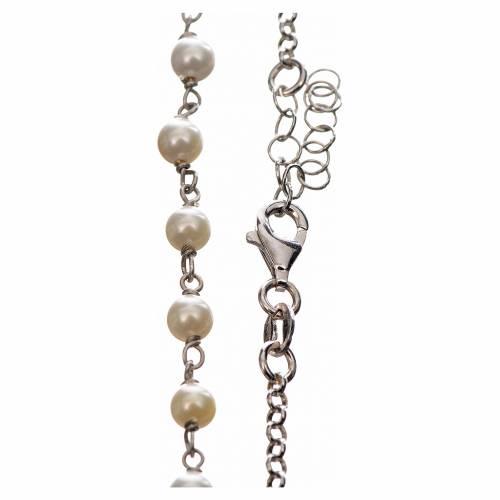 Collar MATER blanco cadena plata 925 tau y medalla s3