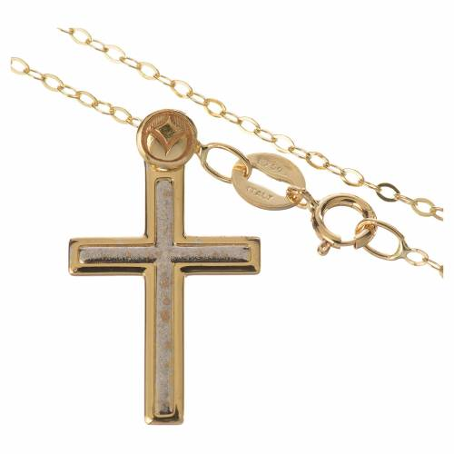 Collar y cruz Oro 750/00 - gr. 1,74 s2