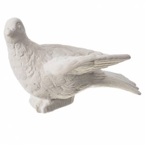 Statue in polvere di marmo di Carrara: Colomba 16 cm polvere di marmo di Carrara
