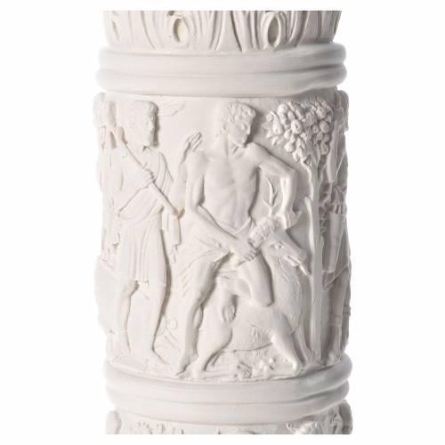 Colonna per statue 80 cm marmo sintetico s6