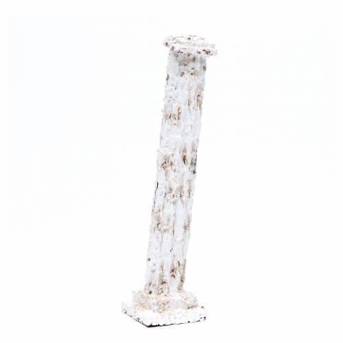 Colonna tipo gesso 27,5x6x6 cm per presepe s4