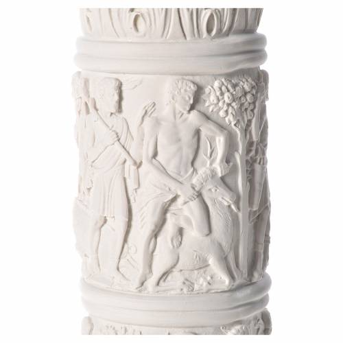 Column for statues, in reconstituted Carrara marble 31,5in s6