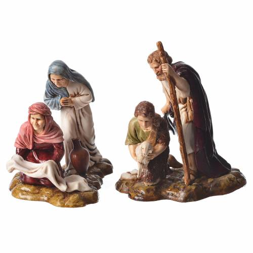 Complete nativity, 9cm Moranduzzo, 14 pieces s4