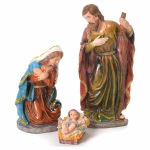 Resin and Fabric nativity scene sets: Complete nativity set in resin, 12 figurines 45cm