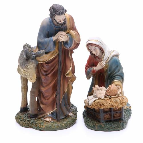 Complete nativity set in resin, 8 figurines 21cm s2