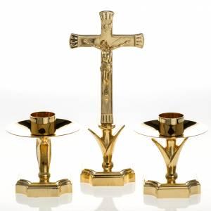 Croci da altare con candelieri: Completo di croce e candelieri altare