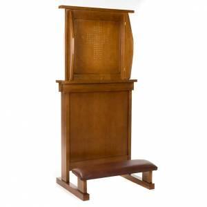 Confesionario reclinatorio de madera de nogal s2