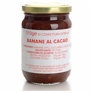 Confiture banane et cacao 310 g Carmélites s1