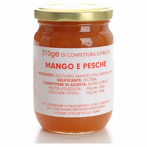 Confiture mangue et pêche 310 g Carmélites s1