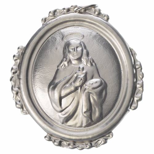 Confraternity Medal in brass, Saint Lucy s1