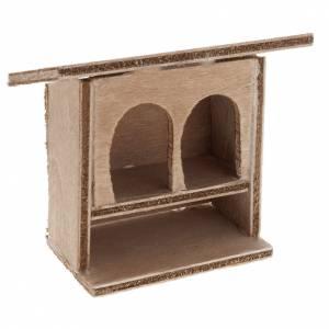 STOCK Conigliera doppia presepe in legno 8-10 cm s1