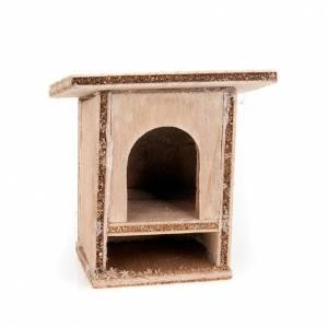 Animali presepe: Conigliera 8-10 cm per presepe in legno da decorare
