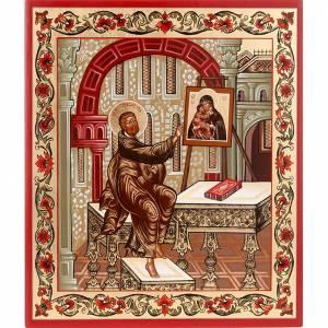 Íconos Pintados Rusia: Ícono de San Lucas el Evangelista Rusia