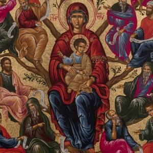 Ícono Gracia Árbol de Jesé de mesa plata 92 s2