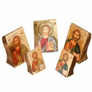 Íconos estampados madera y piedra: Ícono Jesús estampa perfilada