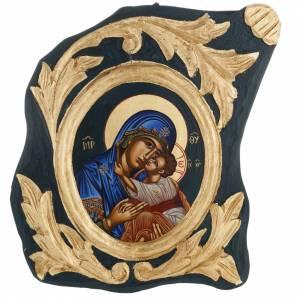 Íconos Pintados Grecia: Ícono Virgen Eleusa serigrafiada y pintada