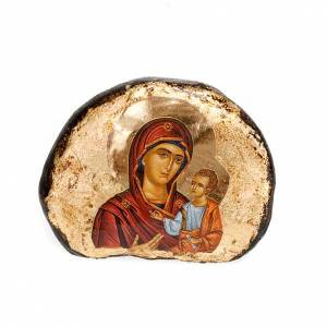 Íconos estampados madera y piedra: Íconos estampados piedra Jesús, María