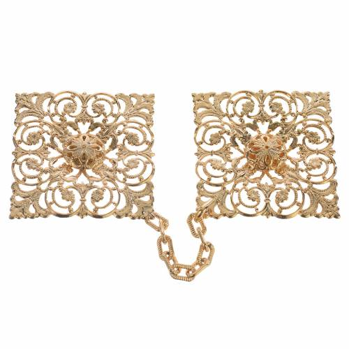 Cope clasp, gold-plated rhomb s1