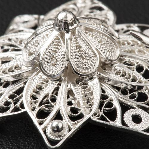 Cope Clasp in silver 800 filigree, star shaped s6