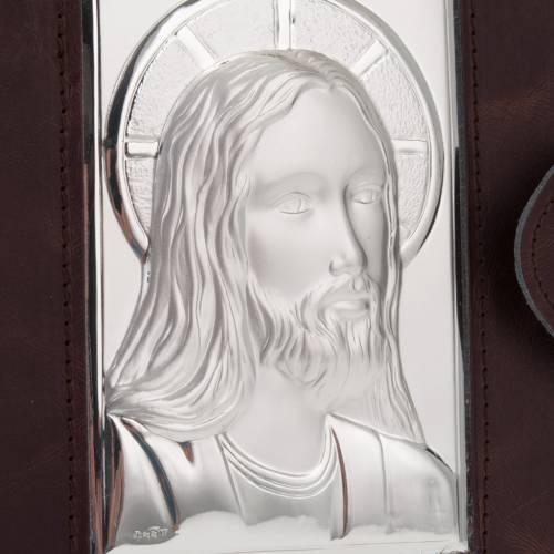 Copertina Messale Romano argento e pelle s2