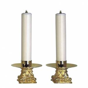 Candelieri metallo: Coppia portacandele e candele pvc