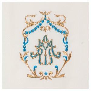 Coprileggio ricami oro e azzurro Santissimo Nome di Maria s2