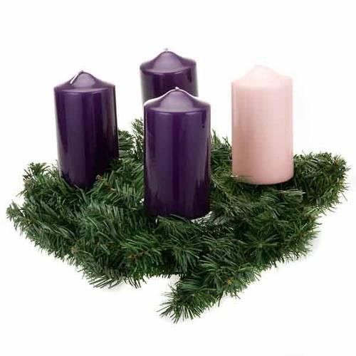 Corona avvento non decorata addobbo di Natale s2