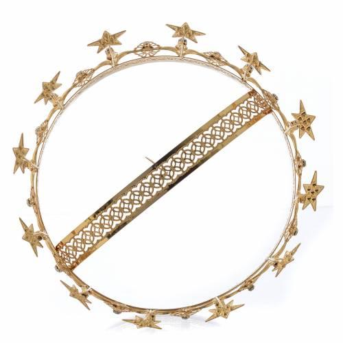 Corona Virgen latón dorado y filigrana s4