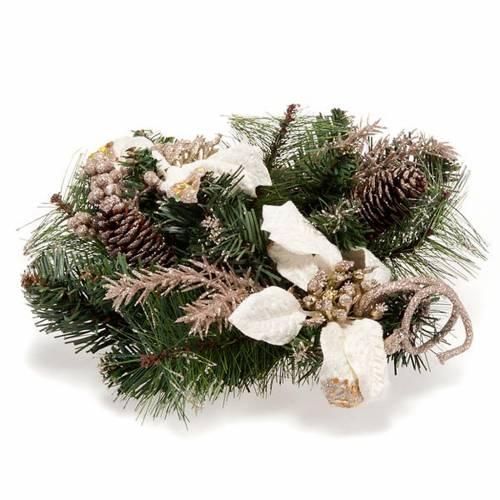 Corona dell'Avvento verde Stella Natale bianca 1