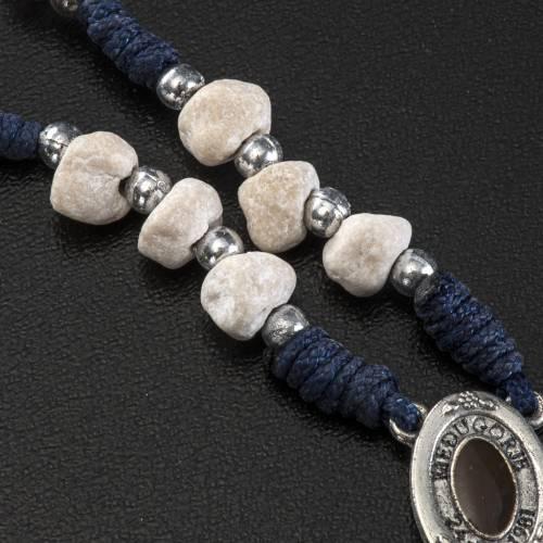 Coroncina terra di Medjugorje corda blu pietra s4