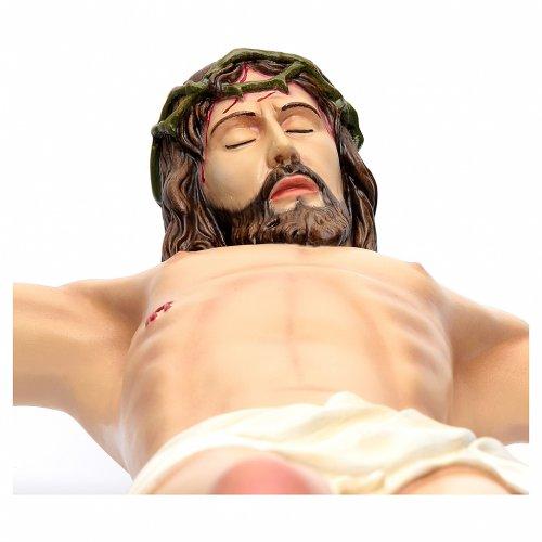 Corpo di Cristo 90 cm in vetroresina dipinta s4