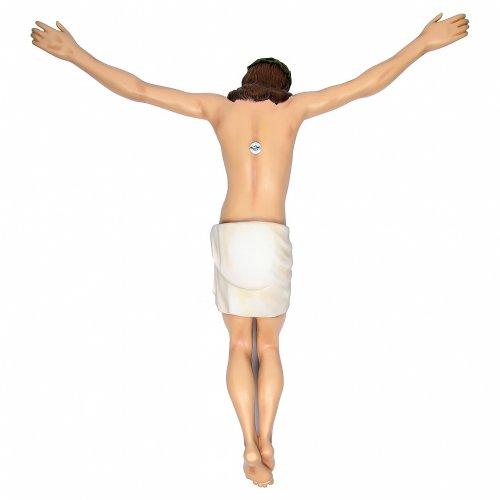 Corpo di Cristo 90 cm in vetroresina dipinta s2