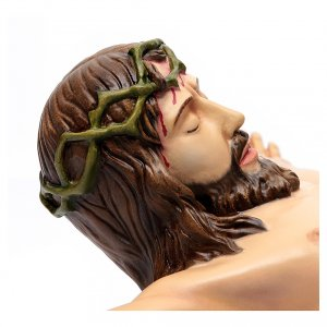 Corpo di Cristo 90 cm in vetroresina dipinta s3