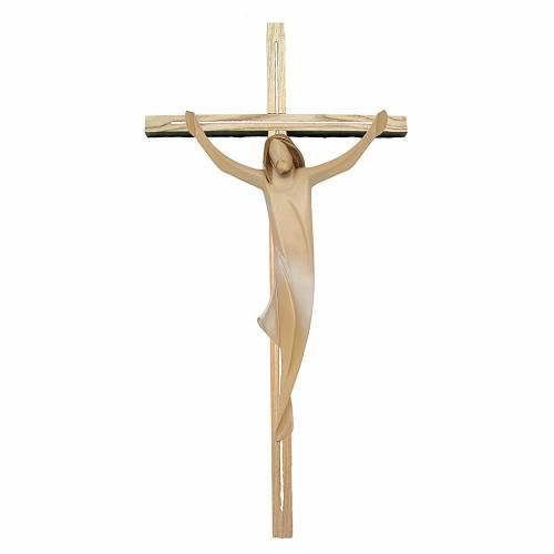 Corpo di Cristo moderno drappo bianco croce legno frassino s1