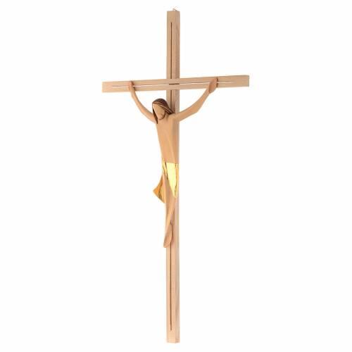 Corps Christ moderne drap doré croix en frêne s2