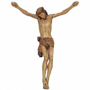 Corps du Christ en bois peint 155 - 140cm s1