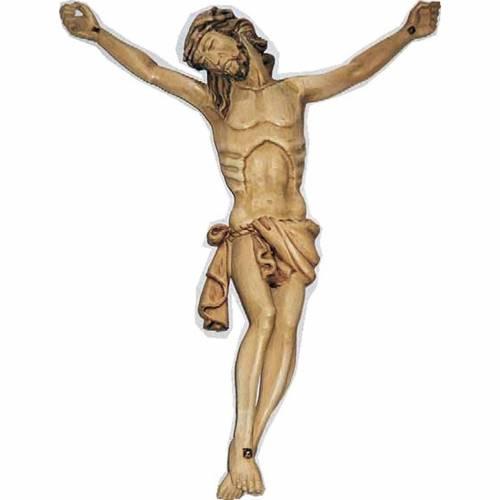 Corps du Christ en bois peint 40cm s1